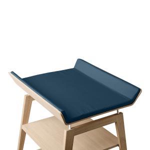 Leander - 700852-65 - Housse de matelas à langer Linea, Bleu Nuit (452298)