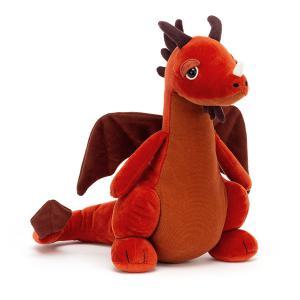 Jellycat - DRA2P - Peluche dragon Paprika - l = 9 cm x H =25 cm (452488)