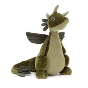 Jellycat - DRA2O - Peluche dragon Olive - l = 9 cm x H =25 cm (452490)
