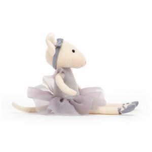 Jellycat - PM6P - Pirouette Mouse Pebble - 27  cm (452492)