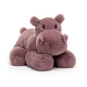 Jellycat - HUG2HL - Peluche hippopotame Huggady - Larg - l = 19 cm x H =32 cm (452544)