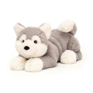 Jellycat - HUD4H - Peluche chien Husky Hudson - Littl - l = 29 cm x H =8 cm (452584)