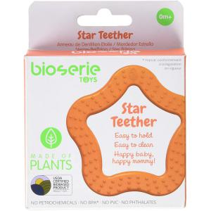 Bioserie Toys - S2BT02 - Anneau de dentition 100% naturel Etoile orange (452890)