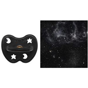 Hevea - 234621 - HEVEA Sucette 3 m+ caoutchouc naturel Outer Space Black/rond/étoile & lune (452980)
