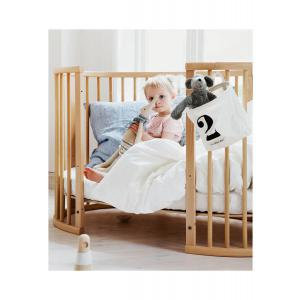 Stokke - BU351 - Lit bébé Sleepi naturel, matelas et drap housse blanc (452991)