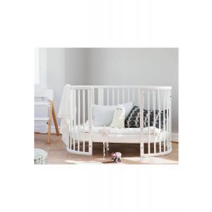Stokke - BU355 - Lit bébé évolutif Sleepi blanc, matelas et drap housse bleu (452999)