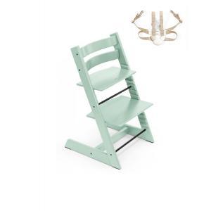Stokke - BU349 - Chaise enfant Tripp trapp vert menthe avec harnais (453007)