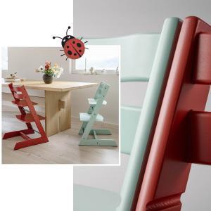 Stokke - BU350 - Chaise enfant Tripp trapp rouge chaud et harnais (453009)