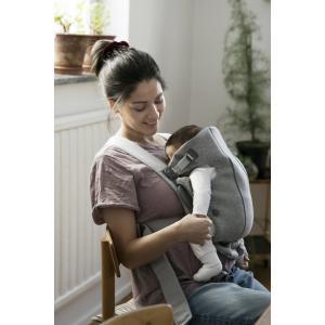 Babybjorn - BU007 - Pack Medium nouveau-né Gris clair, Jersey 3D - transat, porte-bébé mini et accesoires (453023)