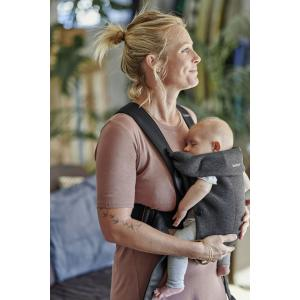 Babybjorn - BU008 - Pack Medium nouveau-né Bleu chiné, Jersey 3D - transat, porte-bébé mini et accesoires (453025)