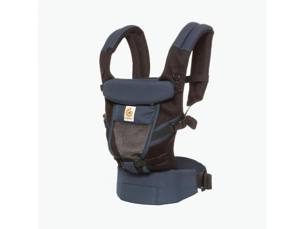 Porte-bébé adapt cool air mesh bleu noir
