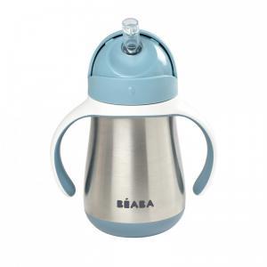 Beaba - 913481 - Tasse paille inox 250 ml - windy blue (453756)