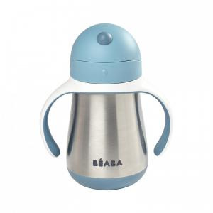 Beaba - 913481 - Tasse paille inox 250 ml - windy blue (453756)