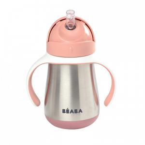 Beaba - 913482 - Tasse paille inox 250 ml - old pink (453758)
