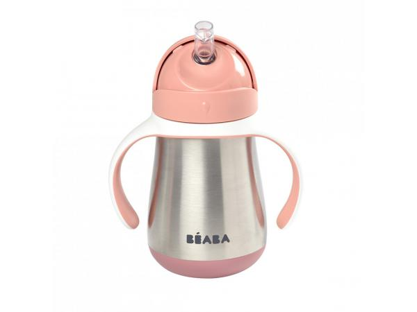 Tasse paille inox 250 ml - old pink