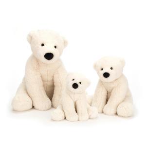 Jellycat - PE6PB - Peluche ours polaire Per - L = 16 cm x l = 10 cm x H =19 cm (453792)