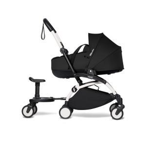 Babyzen - BU890 - Poussette YOYO² nacelle Noir, planche à roulettes - cadre blanc (453924)