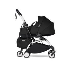 Babyzen - BU908 - Poussette YOYO2 nacelle noir cadre blanc et YOYO bag (453958)