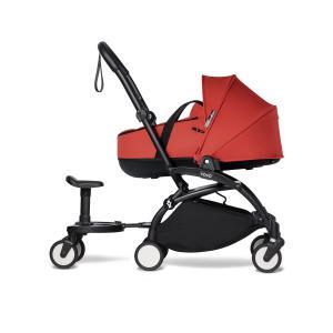 Babyzen - BU882 - Poussette YOYO² nacelle Rouge, planche à roulettes - cadre noir (453974)
