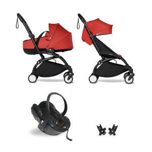 Babyzen - BU873 - Poussette YOYO² nacelle 6+ Rouge, siège auto - cadre noir (454078)