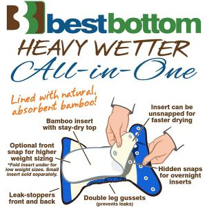 Best Bottom Diaper - 0849932018987 - Culotte d'apprentissage - heavy wetter to the point - taille uni (454120)