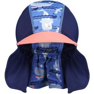 Close - 50138634 - Chapeau de soleil petite baleine - s - bleu/orange (454170)