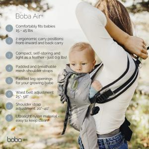 Close - BC3-018-BLAC - Porte bébé ultrta lightweight baby carrier - black - 3-48 mois/7-20 kg (454212)