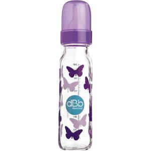 Dbb Remond - 1515HLVL071-39 - Biberon regul'air anti-colique 0-4 mois papillons violets 240 ml - violet papillons - 0-4m 240 ml (454252)