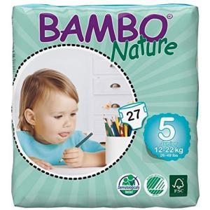 Bambo Nature - 5703538109447 - Couches jetables écologiques T5 junior (12-22 kg) 27 couches (454302)