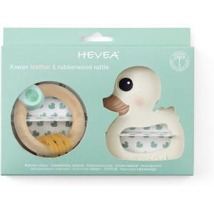 Hevea - 0618T-300318 - Anneau de dentition en caoutchouc naturel canard + anneau de dentition en bois 0m + - 0m + (454340)