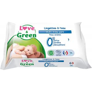 Love And Green - 3700668700393 - Lingettes à l'eau x 56 (454392)