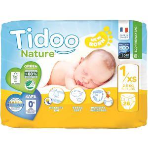 Tidoo - 3760001762365 - Couches écologiques nature t1 / 2-5 kg / 26 couches (454404)
