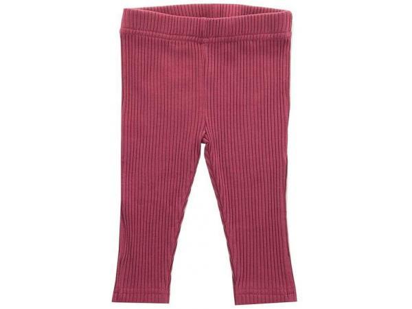 Legging en cotton organic - maroon red - 74-80 cm