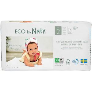 Eco By Naty - 7330933178365 - 33 couches écologiques - taille 2, 3-6kg (454608)