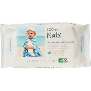 Eco By Naty - 7330933245036 - Eco by Naty Lingettes sensibles avec aloe vera 56 pièces (454614)
