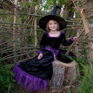 Great Pretenders - 33095 - Vera la sorcière velours, robe et chapeau , taille EU 104-116 - Ages 4-6 years (454658)