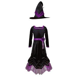 Great Pretenders - 33097 - Vera la sorcière velours, robe et chapeau , taille EU 116-128 - 6-8 ans (454660)