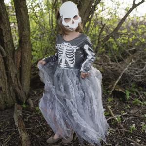 Great Pretenders - 33165 - Robe squelette avec masque, taille EU 104-116 - Ages 4-6 years (454664)