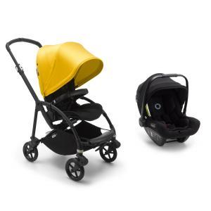Bugaboo - BU324 - Poussette citadine Bee6 jaune avec siège auto Turtle Air Noir (455022)