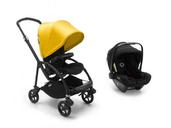 Poussette citadine bee6 jaune avec siège auto turtle air noir
