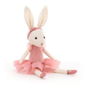 Jellycat - PB6RO - Pirouette Bunny Rose - l = 9 cm x H =27 cm (455818)