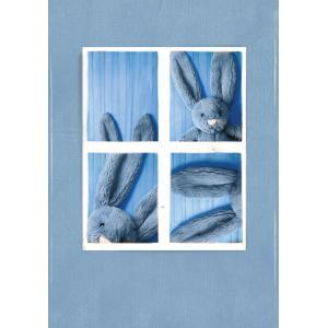 Jellycat - BASS6DUSKB - Bashful Dusky Blue Bunny Small - l = 9 cm x H =18 cm (455844)