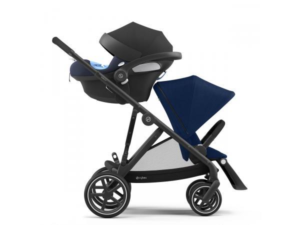 Poussette citadine gazelle s avec siège auto aton m i-size - noir navy blue - bleu