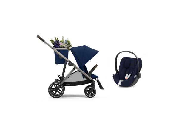 Poussette gazelle s avec siège auto cloud z i-size - taupe navy blue - bleu
