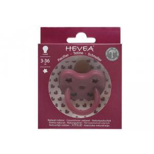 Hevea - 417619 - Sucette Tétine Ortho 3-36 mois Caoutchouc Naturel Fleur Bordeaux Hevea® - Sucettes caoutchouc naturel (456080)