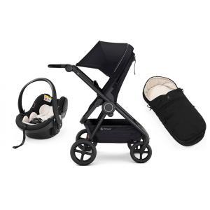 Stokke - BU369 - Poussette Beat, nid d'ange et siège auto iZi Go Modular™ X1 - Noir (456106)
