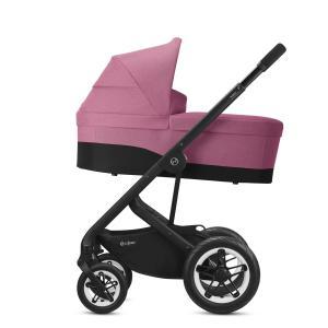 Cybex - BU460 - Poussette Talos S Lux avec nacelle cot S - Noir Magnolia Pink - purple (456152)