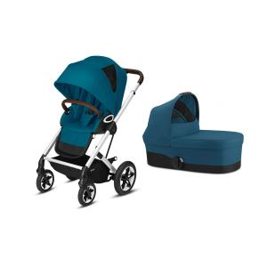 Cybex - BU468 - Poussette Talos S Lux avec nacelle cot S - Chrome River Blue - turquoise (456168)