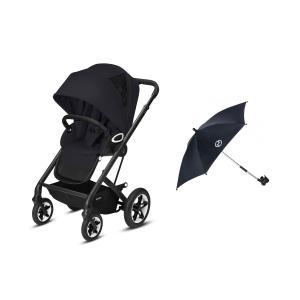 Cybex - BU486 - Poussette  Talos S avec ombrelle - Noir - Deep black - black (456204)