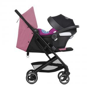 Cybex - BU498 - Poussette compacte Beezy avec siège auto Aton M i-size - Magnolia pink (456228)